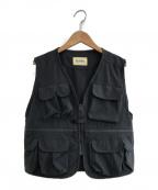 BEAMS BOY(ビームスボーイ)の古着「20SS ストレッチナイロンフィッシングベスト」|グレー