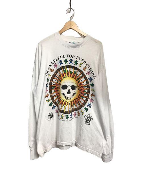 ONLINE CERAMICS(オンライン セラミックス)ONLINE CERAMICS (オンライン セラミックス) 長袖Tシャツ ホワイト サイズ:Lの古着・服飾アイテム
