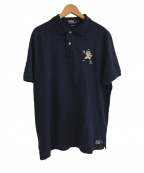 POLO RALPH LAUREN(ポロ・ラルフローレン)の古着「ポロべア刺繍ポロシャツ」 ネイビー
