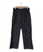 AURALEE(オーラリー)の古着「SILK DENIM WIDE PANTS」|インディゴ