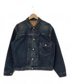 orSlow(オアスロウ)の古着「ウォッシュ加工デニムジャケット」|インディゴ