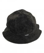 TIGHTBOOTH PRODUCTION(タイトブースプロダクション)の古着「LINEN VELVET HAT」|ブラック