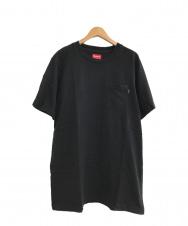 SUPREME (シュプリーム) 胸ポケカットソー ブラック サイズ:L