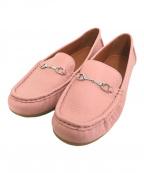 COACH(コーチ)の古着「mavis leather loafer」 ピンク