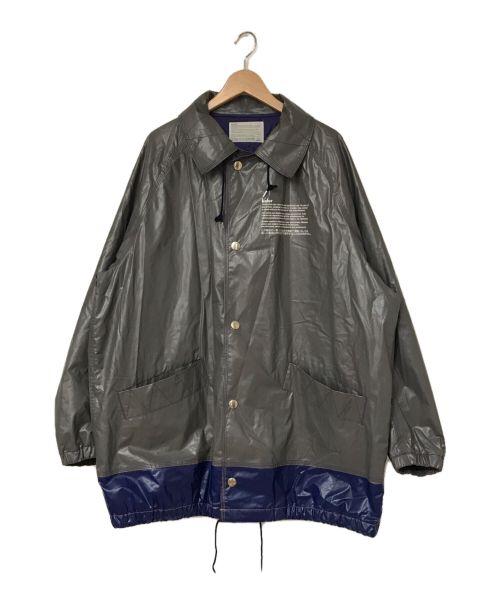 KOLOR(カラー)KOLOR (カラー) PUゴムラミネートコットンジャケット グレー サイズ:4の古着・服飾アイテム