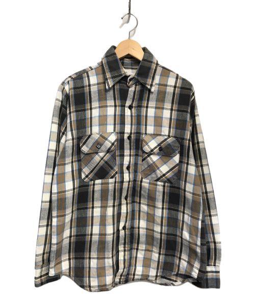 FIVE BROTHER(ファイブブラザー)FIVE BROTHER (ファイブブラザー) ネルシャツ ブラウン サイズ:Mの古着・服飾アイテム