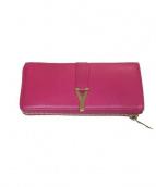 SAINT LAURENT PARIS(サンローラン パリ)の古着「ラウンドファスナー財布」|ピンク