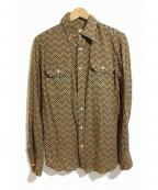 MANDO(マンドー)の古着「シルク混シャツ」|ブラウン