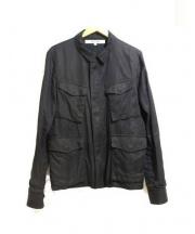 FACTOTUM(ファクトタム)の古着「刺繍ミリタリージャケット」 ブラック