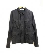 FACTOTUM(ファクトタム)の古着「刺繍ミリタリージャケット」|ブラック
