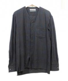 PUBLIC SCHOOL(パブリックスクール)の古着「ノーカラーシャツ」|ブラック