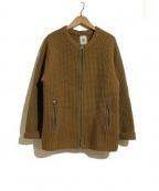 MANDO(マンドー)の古着「ニットジャケット」|ブラウン