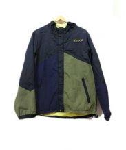 ATMOS(アトモス)の古着「フーデッドジャケット」|パープル×ブラック
