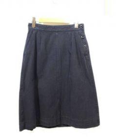 MHL.(エムエイチエル)の古着「コットンスカート」|ネイビー