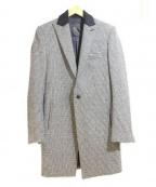 kiryuyrik(キリュウキリュウ)の古着「チェスターコート」|ホワイト×ブラック