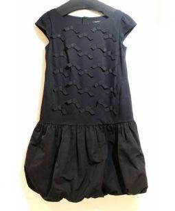 TOCCA(トッカ)の古着「バルーンリボンワンピース」|ブラック