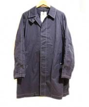 Black & Blue(ブラック&ブルー)の古着「ステンカラーコート」|ブルー