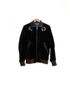DIESEL(ディーゼル)の古着「ベロアボンバージャケット」|ブラック