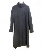 SPORT MAX(スポーツマックス)の古着「メルトンロングコート」 ブラック