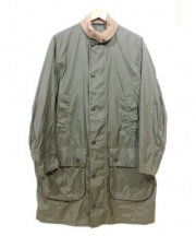 Barbour(バブアー)の古着「コート」|グリーン×ブラウン