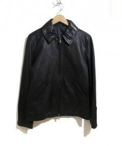 Adam et Rope(アダム エ ロペ)の古着「レザージャケット」|ブラック