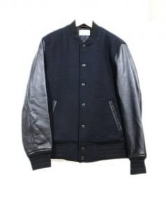 Adam et Rope(アダム エ ロペ)の古着「スタジャン」|ブラック