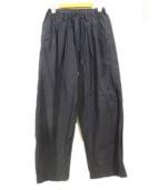 Black & Blue(ブラック&ブルー)の古着「タックワイドトラウザーパンツ」|ネイビー