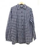 ETHOS(エトス)の古着「ビッグシルエットシャツ」|ネイビー×グレー