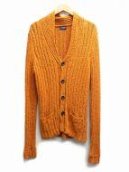 Drumohr(ドゥルモア)の古着「ショールカラーカーディガン」|オレンジ