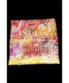 HERMES(エルメス)の古着「シルクスカーフ」|ホワイト×イエロー