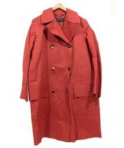 MARGARET HOWELL(マーガレットハウエル)の古着「ゴム引きコート」|オレンジ