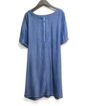 ROPE(ロペ)の古着「フロントリボンワンピース」 インディゴ