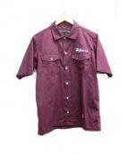 BACK CHANNEL(バックチャンネル)の古着「半袖シャツ」|ボルドー