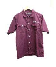 BACK CHANNEL(バックチャンネル)の古着「半袖シャツ」 ボルドー