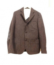 BEAMS PLUS×Harris Tweed(ビームスプラス×ハリスツイード)の古着「テーラードジャケット」 ブラウン