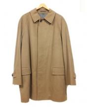 SANYO(サンヨウ)の古着「カシミヤステンカラーコート」|キャメル