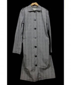 Mademoiselle NON NON(マドモアゼルノンノン)の古着「グレンチェックステンカラーコート」|グレー