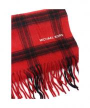 MICHAEL KORS(マイケルコース)の古着「カシミヤストール」|ブラック×レッド