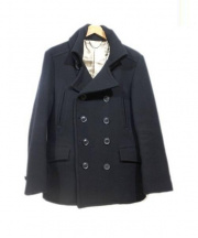 LOUNGE LIZARD(ラウンジリザード)の古着「ロングPコート」|ブラック