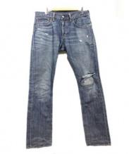 POLO RALPH LAUREN(ポロ ラルフローレン)の古着「リペア加工デニムパンツ」|インディゴ