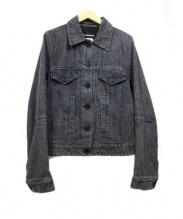 ANN DEMEULEMEESTER(アンドゥムルメステール)の古着「デニムジャケット」|ブラック