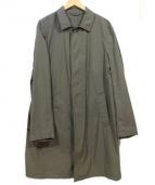 LUIGI BORRELLI(ルイジ ボレッリ)の古着「ナイロンステンカラーコート」|カーキ