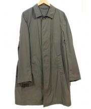 LUIGI BORRELLI(ルイジ ボレッリ)の古着「ナイロンステンカラーコート」 カーキ