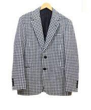 TOMORROW LAND(トゥモローランド)の古着「テーラードジャケット」|ホワイト×ブラック