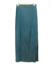 ISSEY MIYAKE FETE(イッセイミヤケフェット)の古着「プリーツスカート」|グリーン