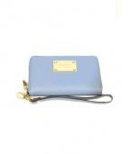 MICHAEL KORS(マイケルコース)の古着「Saffiano Leather Zip Wallet」|ブルー