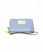 MICHAEL KORS(マイケルコース)の古着「Saffiano Leather Zip Wallet」 ブルー