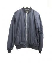ALPHA(アルファ)の古着「ドロップショルダーMA-1ジャケット」|ブラック