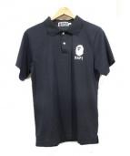 A BATHING APE(ア ベイシング エイプ)の古着「マルチアイコンメッシュポロシャツ」|ブラック
