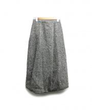 COMME des GARCONS(コムデギャルソン)の古着「ツイードマキシスカート」|ブラック×ホワイト